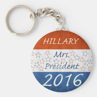 Hillary for President 2016 Basic Round Button Keychain