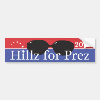 Hillary for President 2016 Car Bumper Sticker