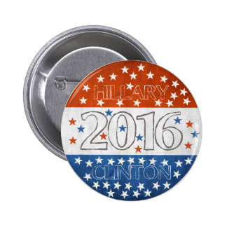 Hillary for President 2016 2 Inch Round Button