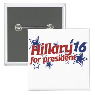 Hillary for president 2016 2 inch square button