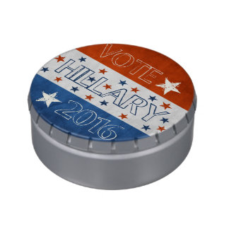 Hillary for President 2016 Jelly Belly Candy Tins