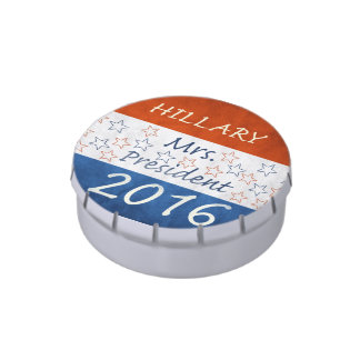 Hillary for President 2016 Candy Tins