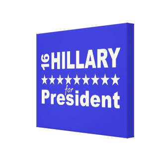 Hillary for President 2016 Canvas Print
