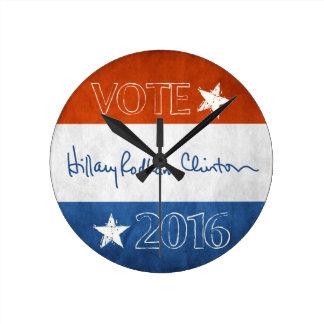 Hillary for President 2016 Round Clocks