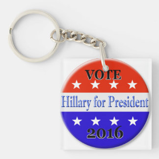 HILLARY FOR PRESIDENT 2016 KEYCHAIN