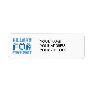 HILLARY FOR PRESIDENT 2016 RETURN ADDRESS LABEL
