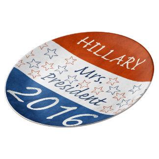 Hillary for President 2016 Porcelain Plates