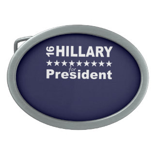Hillary for President 2016 Oval Belt Buckle
