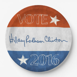 Hillary for President 2016 Paper Plate