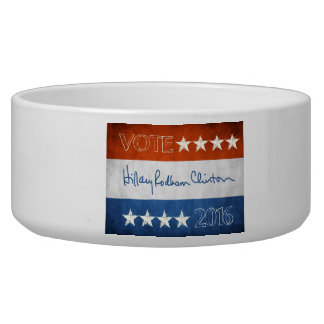 Hillary for President 2016 Dog Water Bowl