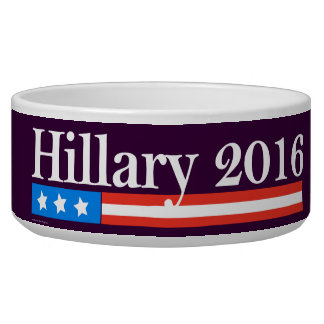 Hillary for President 2016 Pet Bowls