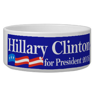Hillary for President 2016 Pet Food Bowl