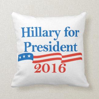 Hillary for President 2016 Pillows