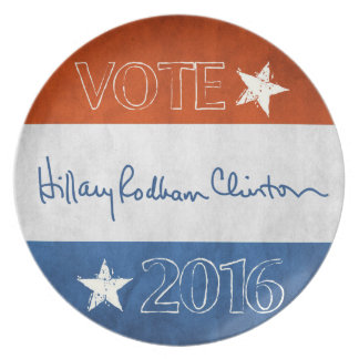 Hillary for President 2016 Party Plate