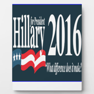 hillary for president 2016.png photo plaque