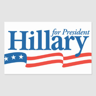 Hillary for President 2016 Rectangle Stickers
