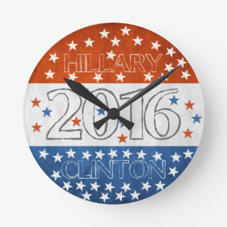 Hillary for President 2016 Round Clock