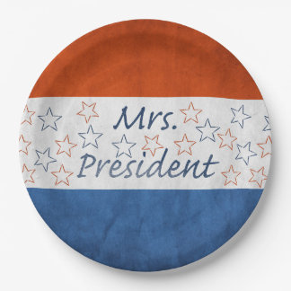 Hillary for President 2016 9 Inch Paper Plate