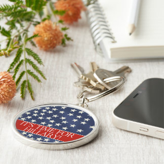 Hillary for President 2016 Silver-Colored Round Keychain