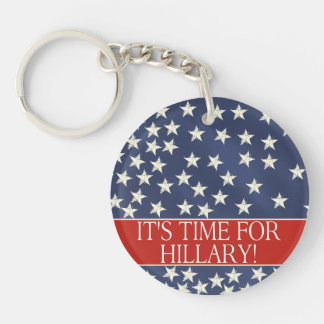 Hillary for President 2016 Single-Sided Round Acrylic Keychain