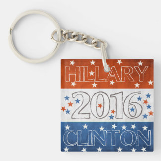 Hillary for President 2016 Single-Sided Square Acrylic Keychain