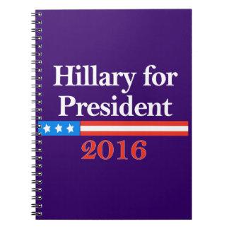 Hillary for President 2016 Spiral Notebooks