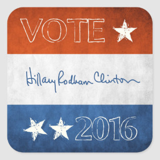 Hillary for President 2016 Square Sticker