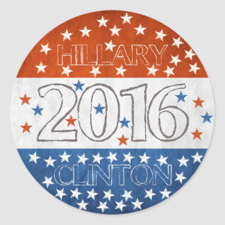Hillary for President 2016 Round Sticker