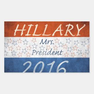 Hillary for President 2016 Rectangular Sticker