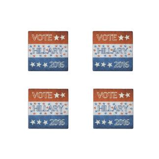 Hillary for President 2016 Stone Magnet