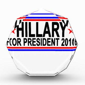 Hillary FOR PRESIDENT 2016 Tee Shirts.png Acrylic Award