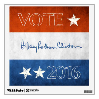 Hillary for President 2016 Wall Decal
