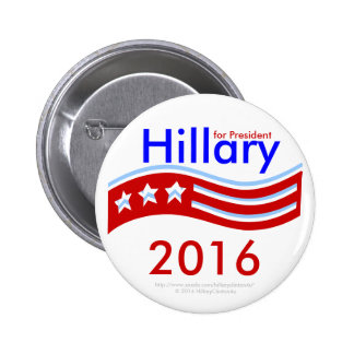 Hillary for President 3-Stars Flag 2016 Button