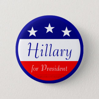 Hillary for President (Blue Ring) Pinback Button