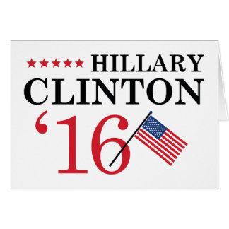 Hillary For President Card