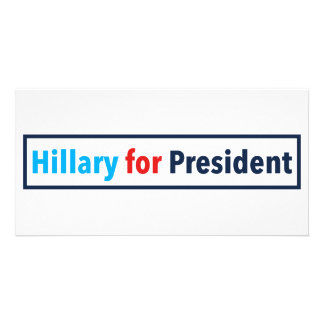 Hillary for President (Choose Your Own Color) Card