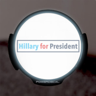 Hillary for President (Choose Your Own Color) LED Window Decal