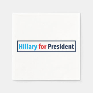 Hillary for President (Choose Your Own Color) Napkin