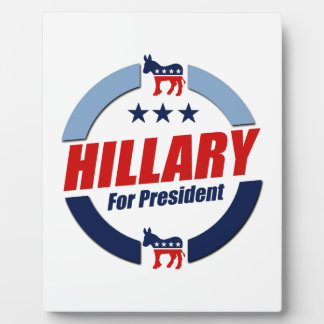 HILLARY FOR PRESIDENT DEMOCRATS 2016 DISPLAY PLAQUES