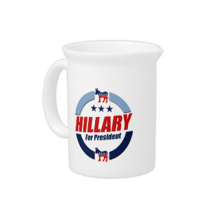 HILLARY FOR PRESIDENT DEMOCRATS PITCHERS