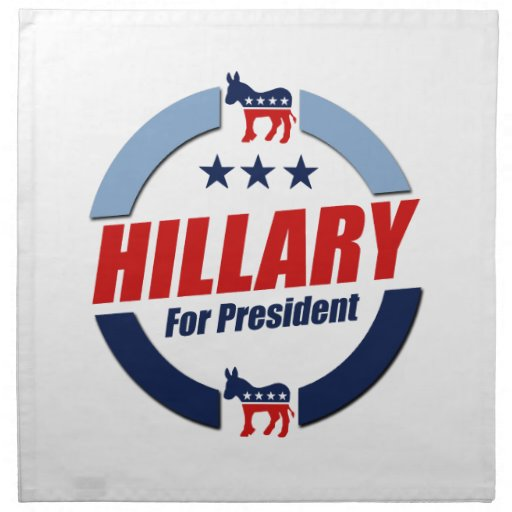 HILLARY FOR PRESIDENT DEMOCRATS.png Cloth Napkin