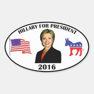 Hillary For President Oval Sticker