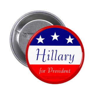 Hillary for President Pinback Button