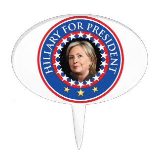 Hillary for President - Seal Cake Toppers