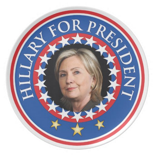 Hillary for President - Seal Party Plate