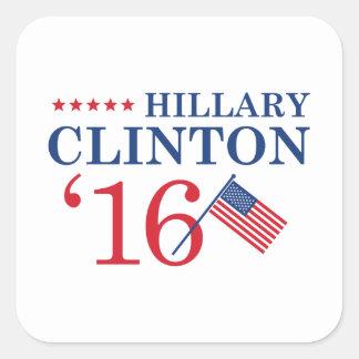 Hillary For President Square Sticker