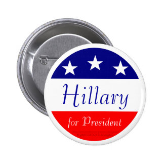 Hillary for President (White Ring) Pinback Button