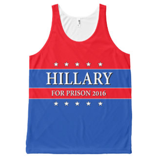 """HILLARY FOR PRISON 2016"" All-Over PRINT TANK TOP"