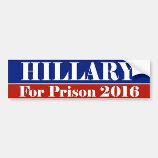 HILLARY For Prison 2016 Bumper Stickers
