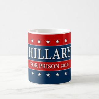 """HILLARY FOR PRISON 2016"" CLASSIC WHITE COFFEE MUG"
